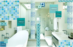 Tropical Beach Inspired Bathroom