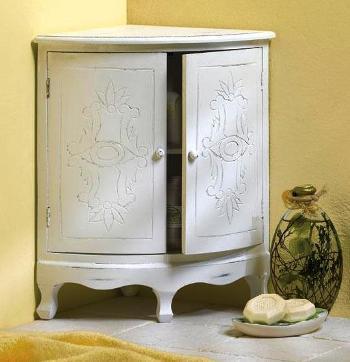 Amazing Home Decorating - Corner Curio Wooden Cabinet.