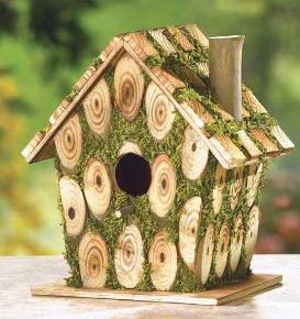 Amazing home decorating moss edged bird house - Decorating with bird houses ...
