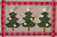 Christmas Trees In The Snow Card