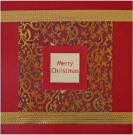 Patterned Merry Christmas Card