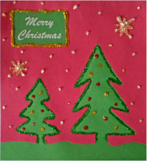 Two Christmas Trees Card