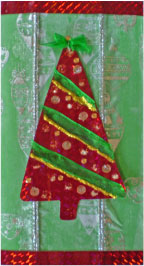 Shiny Christmas Tree Card