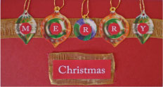 Merry Christmas and Ornaments Card
