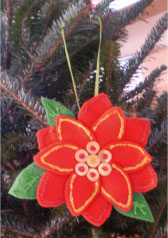 Sparkling Poinsettia Ornament