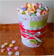 Decorated Candy Container