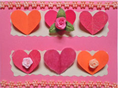 Decorated Hearts Card