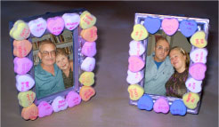 Picture Frame With Candy Hearts