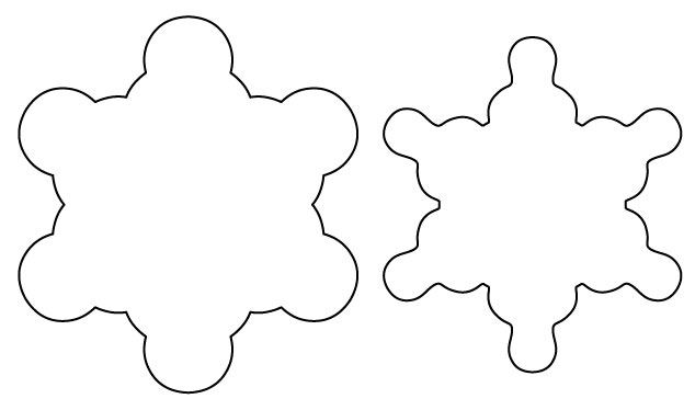 Print out both snowflake templates and cut them out.