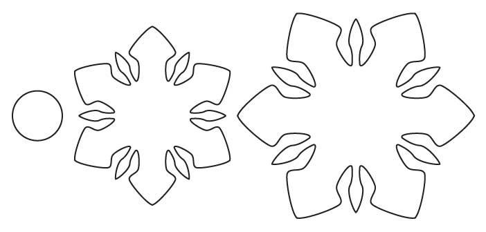 Snowflake Outline Template Put the snowflake templates