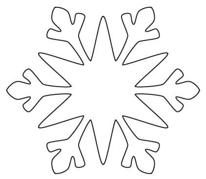 Snowflake Writing Template Home decorating snowflake